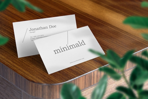 Clean minimal business card mockup Premium Psd