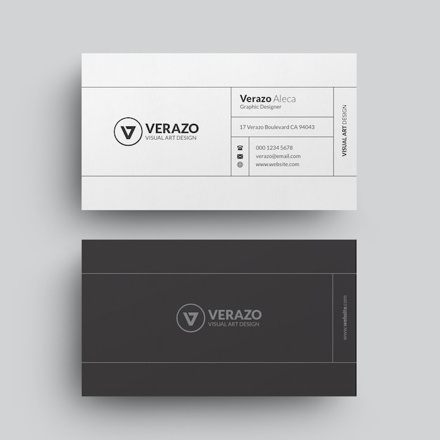 Minimal Business Card Template Psd File: Clean Minimalist Business Card Template PSD File