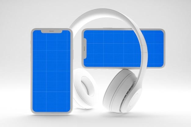 Чистый мобильный музыкальный макет приложения Premium Psd