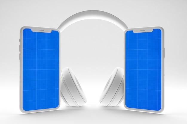 Чистый мобильный музыкальный макет Premium Psd