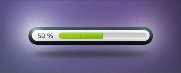 Clean progress bar Free Psd