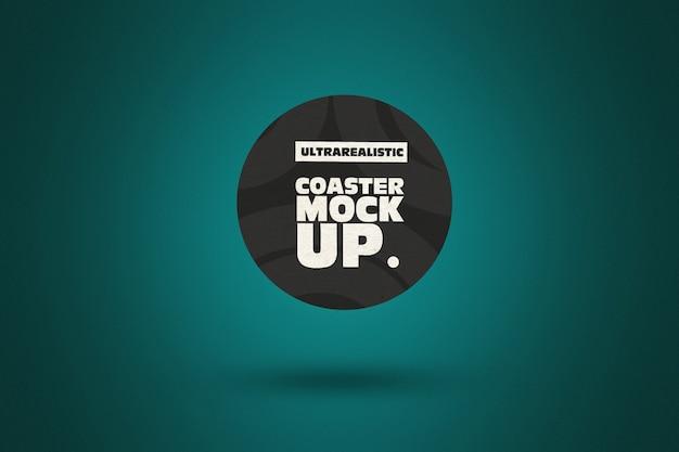 Clean round coaster mockup Premium Psd