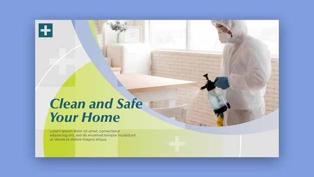 Clean and safe banner style Free Psd