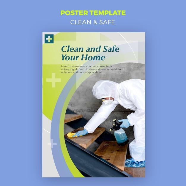 Tema poster pulito e sicuro Psd Gratuite