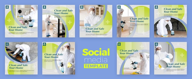 Clean and safe social media post Free Psd