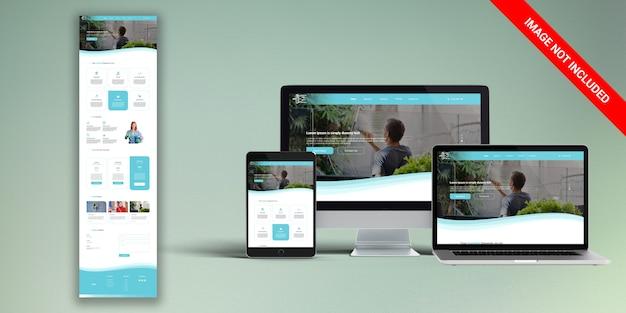 Clean web template psd Premium Psd