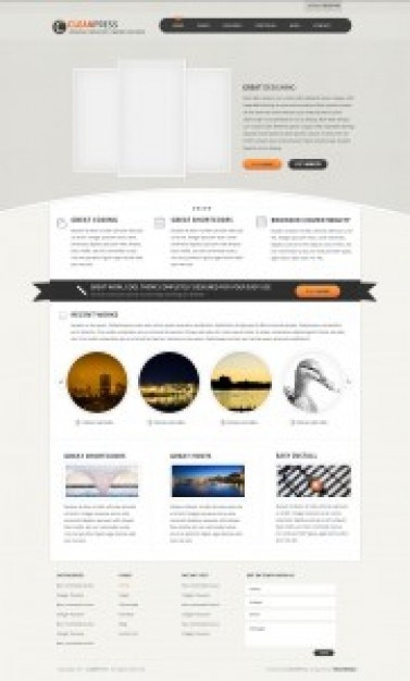 clean wordpress template psd psd file free download. Black Bedroom Furniture Sets. Home Design Ideas