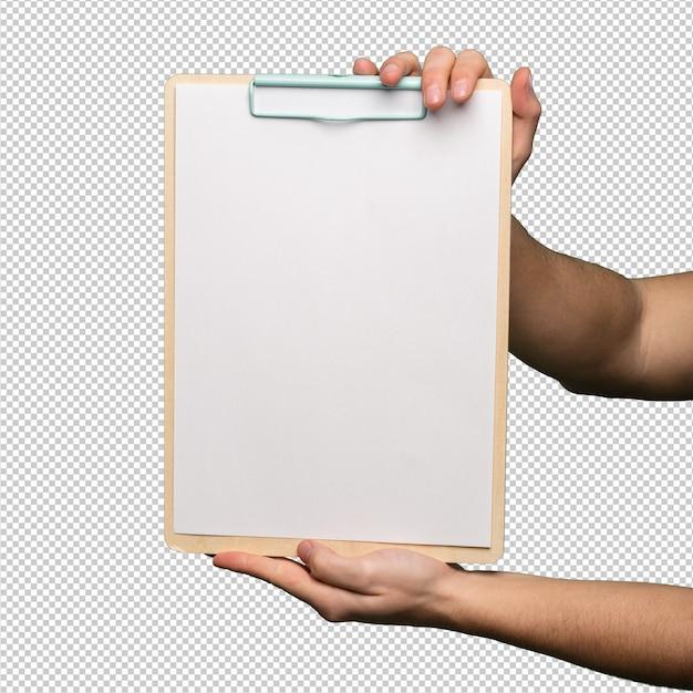 Clipboard over white background Premium Psd