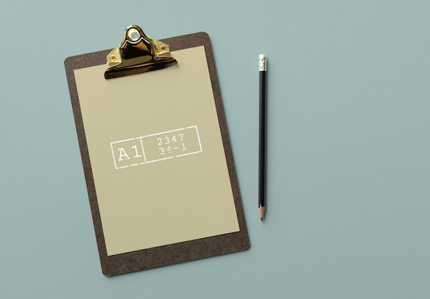 Clipboard with a document mockup Free Psd