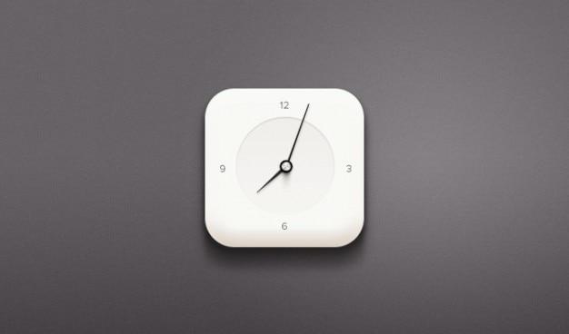 クロックは白い時計のpsd 無料 Psd