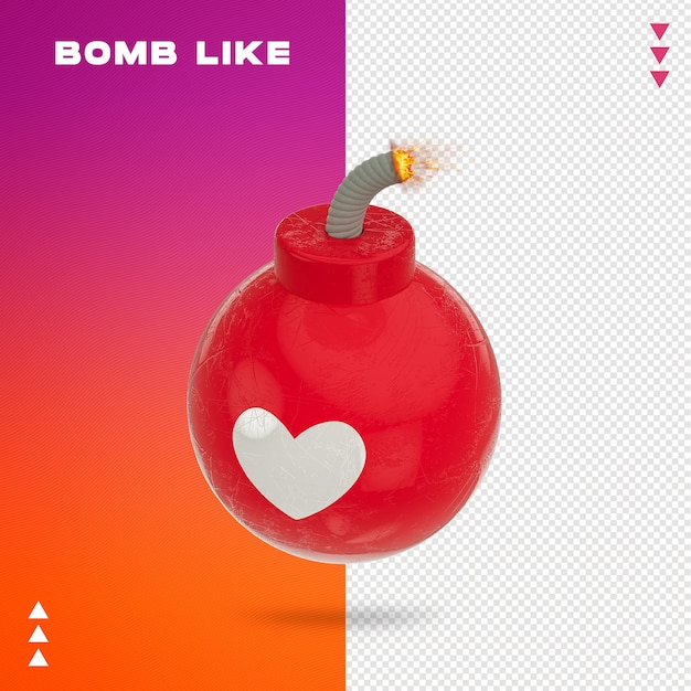 Close up on bomb like 3d rendering Premium Psd