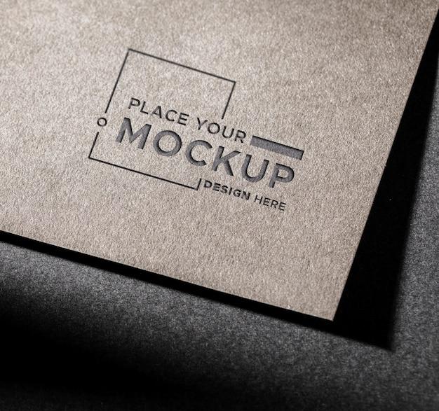 Mock-up della carta d'identità del primo piano Psd Gratuite