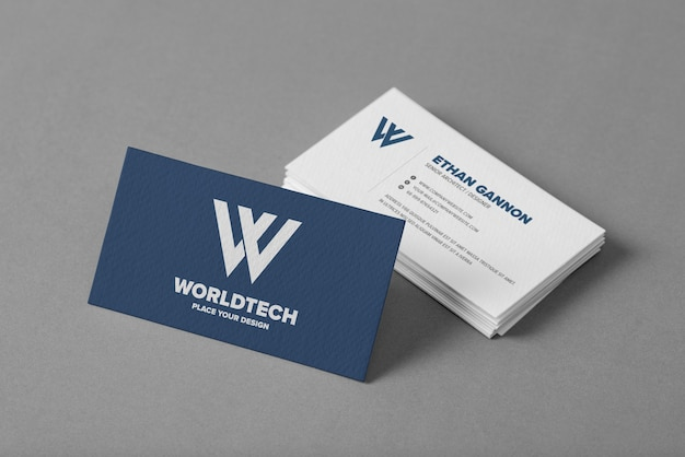 Close up on minimal business card mockup Premium Psd