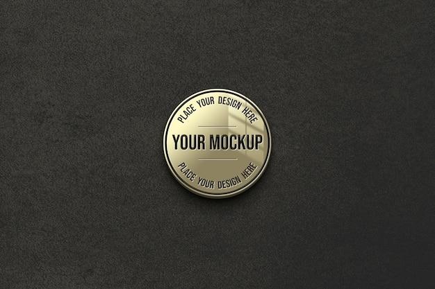 Close up on mockup on black background Premium Psd