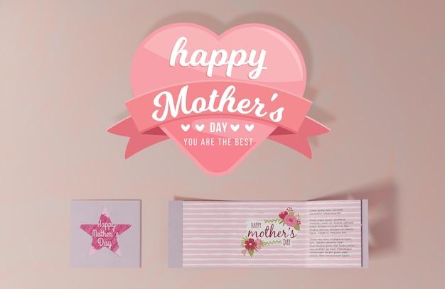클로즈업 어머니의 날 인사말 카드 무료 PSD 파일