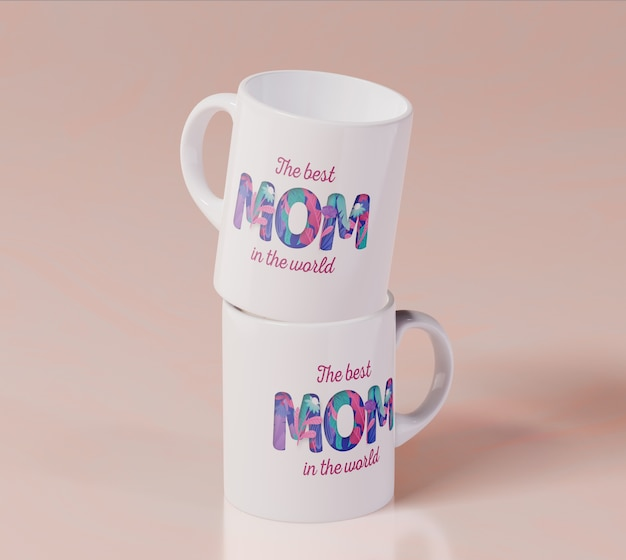 Close-up mothers day mug Free Psd