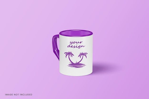 Close up on mug mockup design isolated Premium Psd
