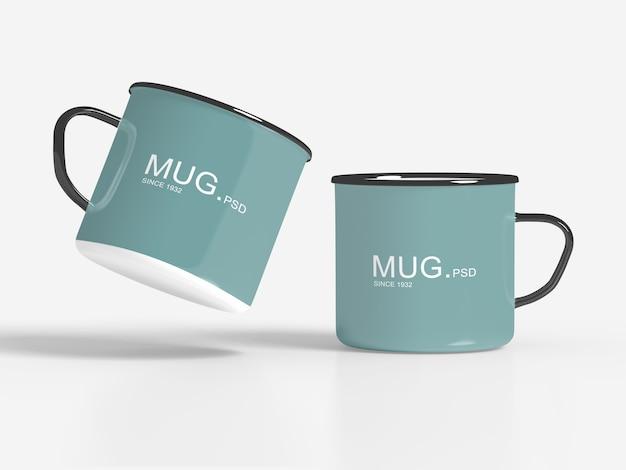 Close up on mug mockups isolated Premium Psd