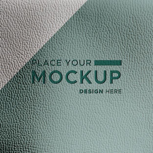 청록색 가죽의 클로즈업 무료 PSD 파일