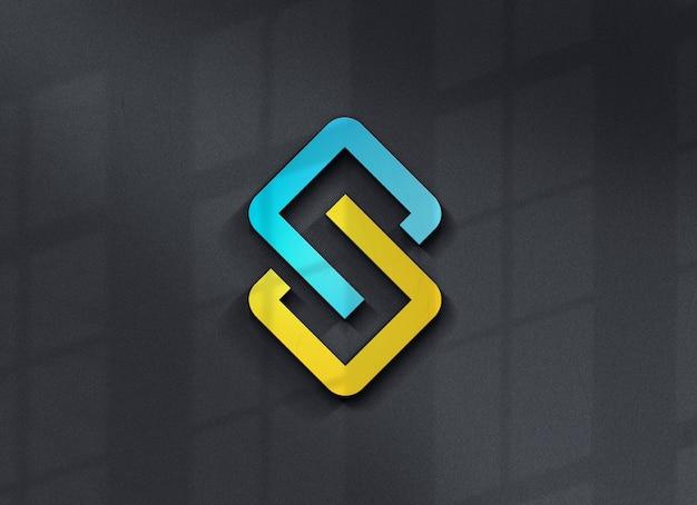 아름다운 로고 모형 디자인에 가까이 프리미엄 PSD 파일