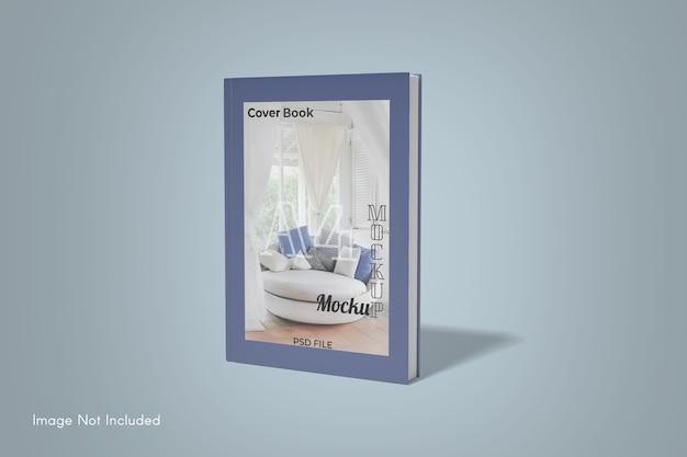Крупным планом на макет обложки книги Premium Psd