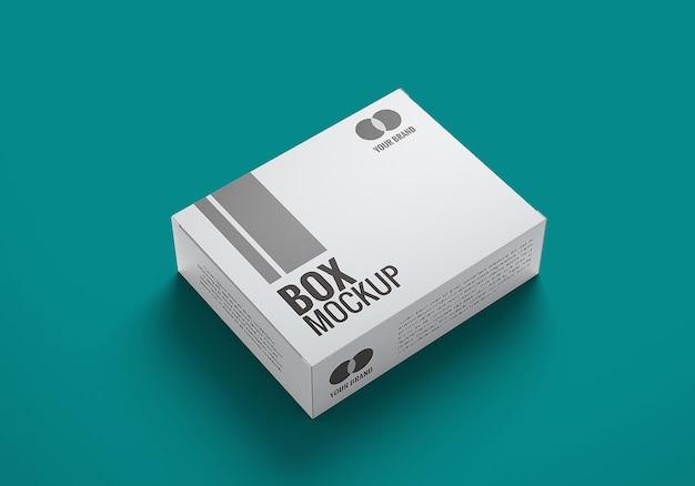 상자 모형 디자인에 가까이 프리미엄 PSD 파일