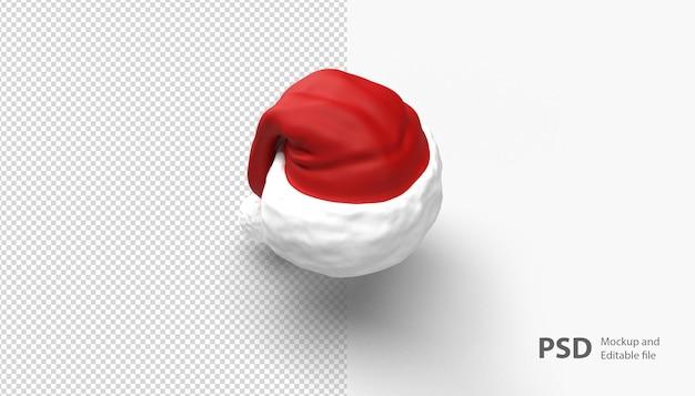 孤立したクリスマス帽子にクローズアップ Premium Psd