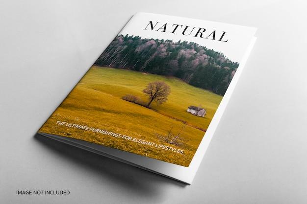 Cover Natural Book Mockup에 닫기 프리미엄 PSD 파일