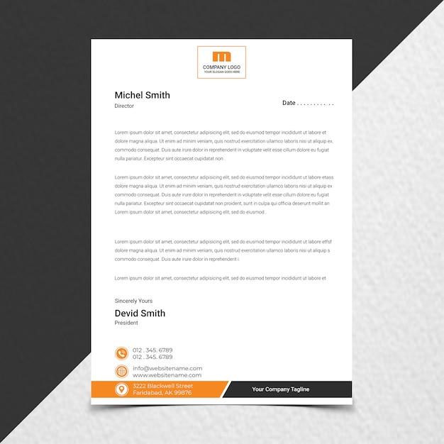 창의적인 기업 레터 헤드 디자인에 가까이 프리미엄 PSD 파일