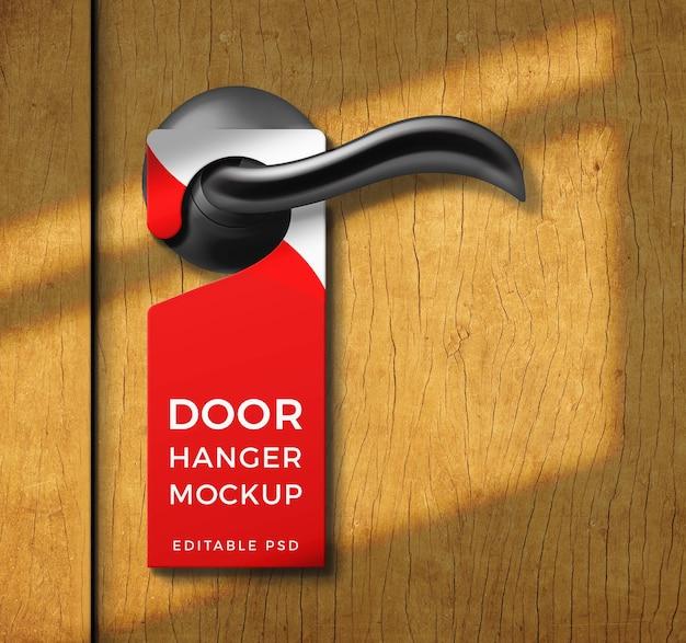 문 걸이 모형 태그에 닫기 프리미엄 PSD 파일