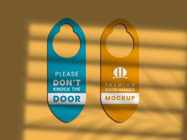 문 걸이 모형에 가까이 프리미엄 PSD 파일