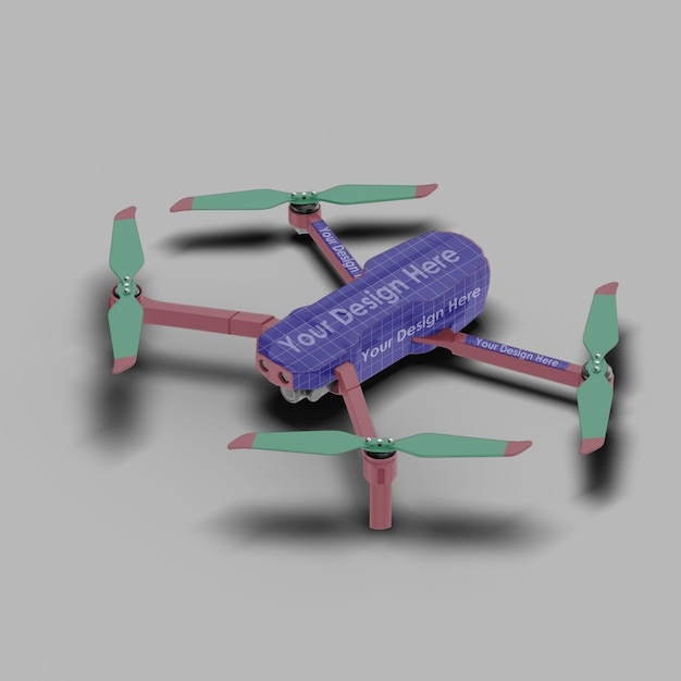 Крупным планом на изолированном мокапе drone Premium Psd