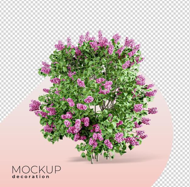 花のインテリアにクローズアップ3dモックアップ3dモックアップ Premium Psd
