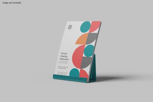 전단지 포스터 모형 디자인에 가까이 프리미엄 PSD 파일