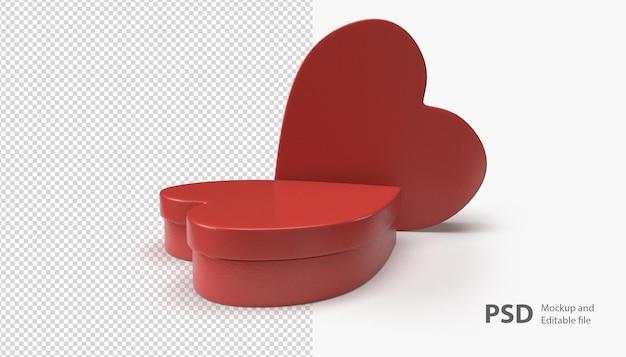 사랑 상자 렌더링에 가까이 프리미엄 PSD 파일