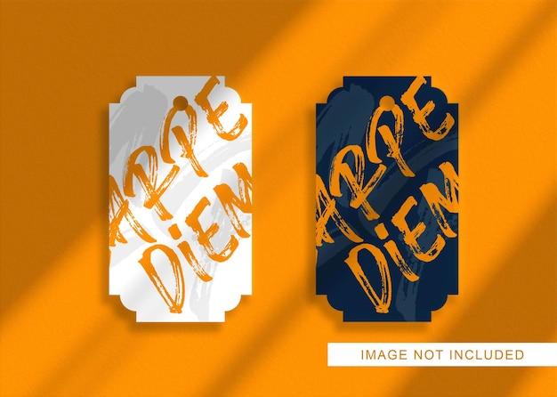 고립 된 럭셔리 로고 모형에 가까이 프리미엄 PSD 파일