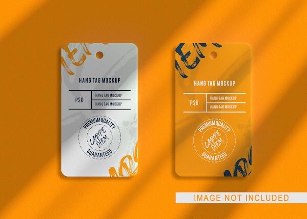 Крупным планом на роскошный макет логотипа lebel tag Premium Psd