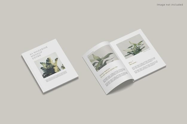 고립 된 잡지 표지 모형에 가까이 프리미엄 PSD 파일
