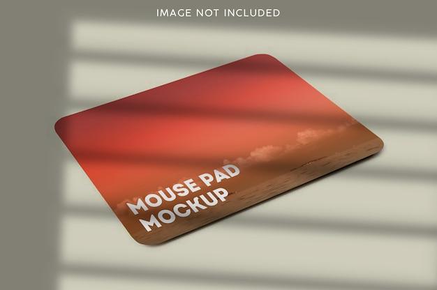 고립 된 마우스 패드 모형에 가까이 프리미엄 PSD 파일
