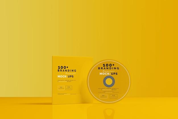 Закройте упаковку компакт-диска и макет рукава Premium Psd