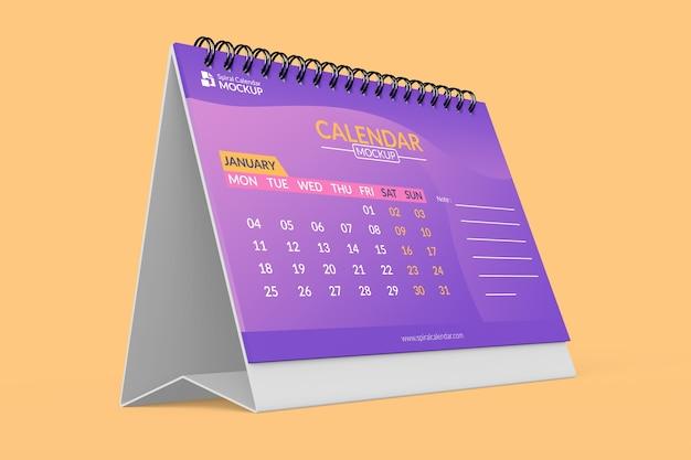 Крупным планом на реалистичные макеты дизайна календаря Premium Psd
