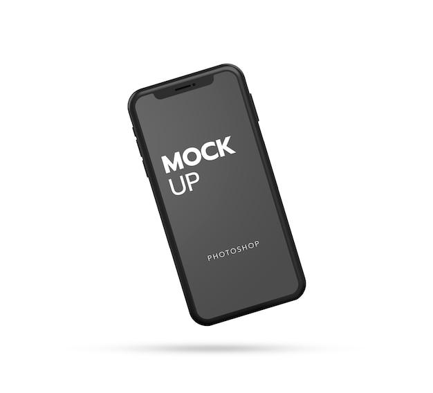 Макет смартфона крупным планом Premium Psd