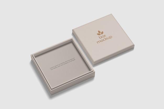 Крупным планом на изолированном макете квадратной коробки Premium Psd