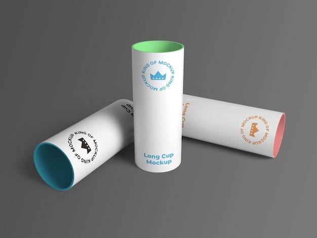 Крупным планом на различных изолированных макет большой чашки Premium Psd