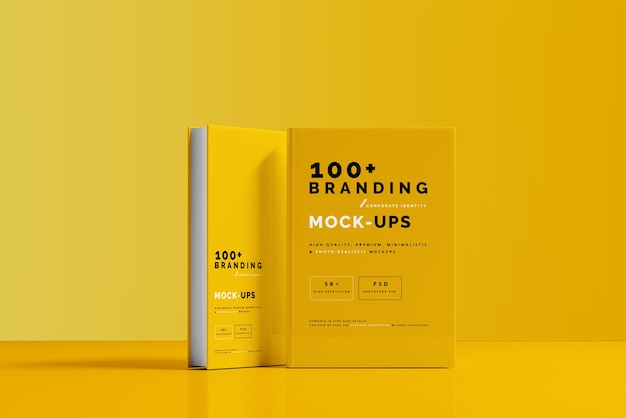 Close up on packaging of book cover mockup Premium Psd