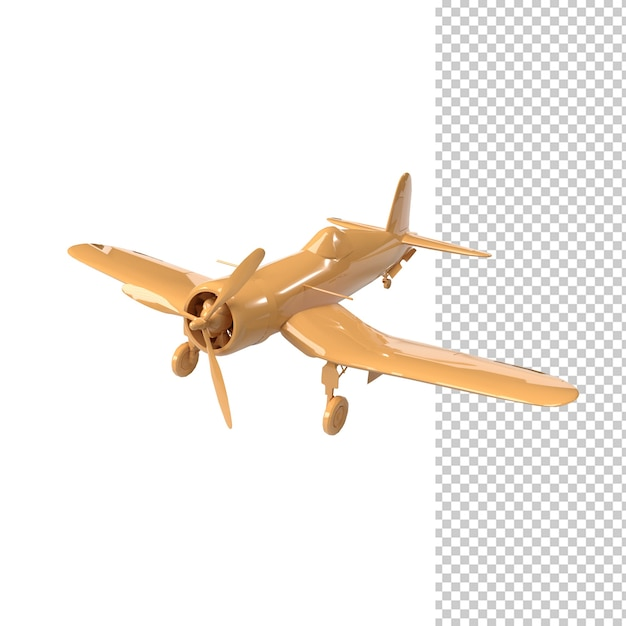Close up on plane isolated Premium Psd