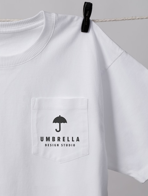 Pocket T Shirt Mockup Psd Free