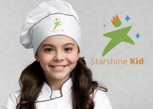 Ritratto di giovane chef da vicino Psd Gratuite