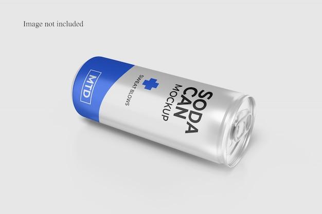 Close-up soda can mockup Premium Psd