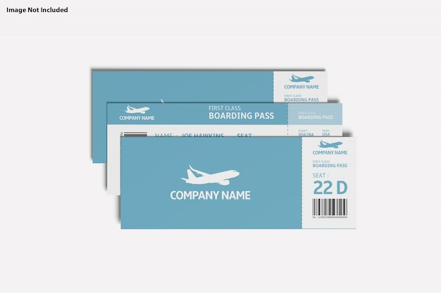 Close up on various purpose ticket mockup Premium Psd